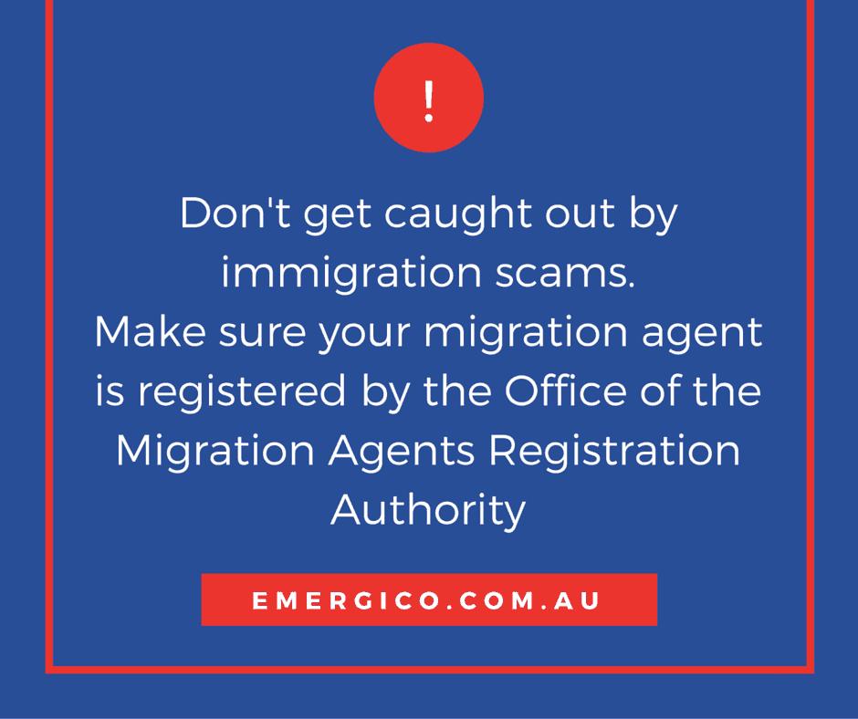 migration scam